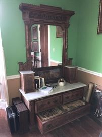 Beautiful antique dresser with marble top