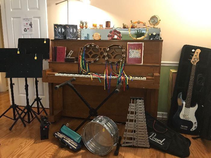 Guitar, xylophone, drum sold
