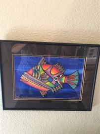 Artist  Cindy Coats   Kailea Kona Hawaii                         Media  Painted Gielee   includes  Certificate of Authenticity