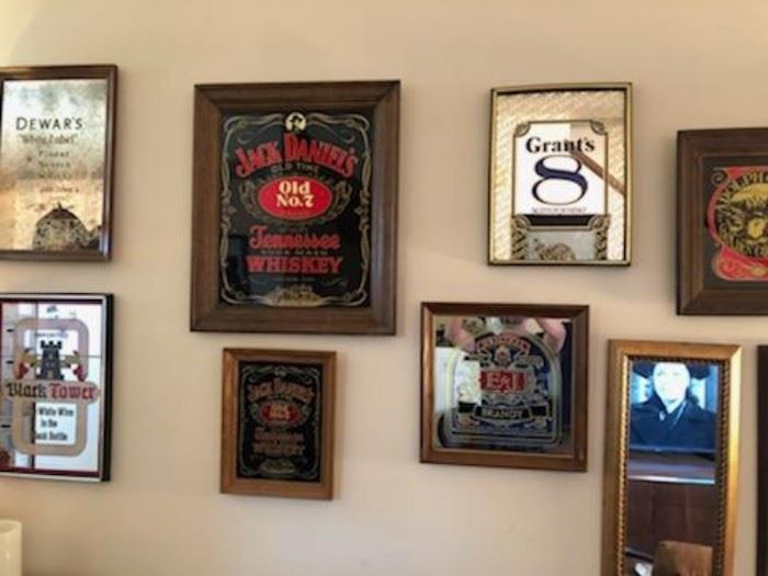 So many great mirrored beer signs