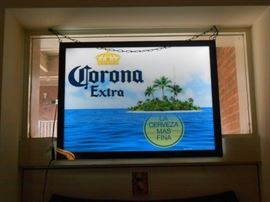This sweet Corona sign not only lights up, but the light is dimmable as well