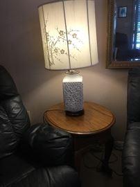 Pair of blanc de chine Oriental lamps