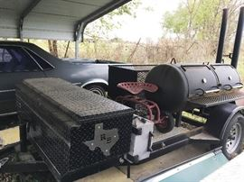 Sweet Johnsons Custom BBQ Trailer with Canopy and many extras.