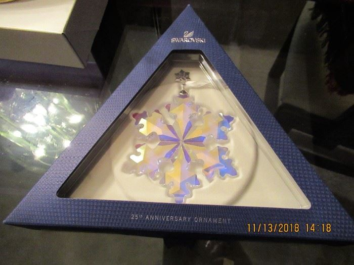 """The """"A"""" list of christmas ornaments will amaze, waterford, patricia breen, jay strongwater, swavorski 1998 - 2008, christopher radko,  to name drop a few."""