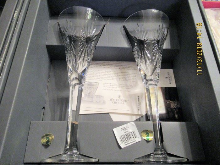 Waterford toasting flutes,