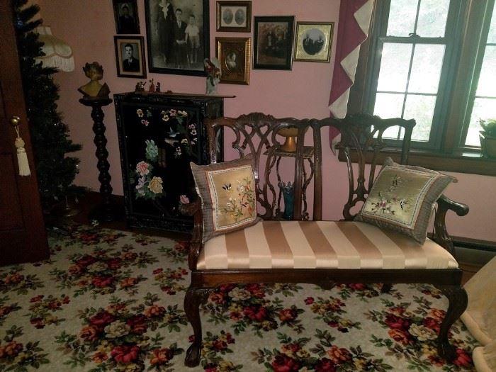 Fancy carved settee