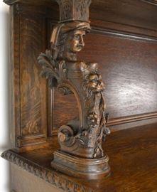 Figural carvings