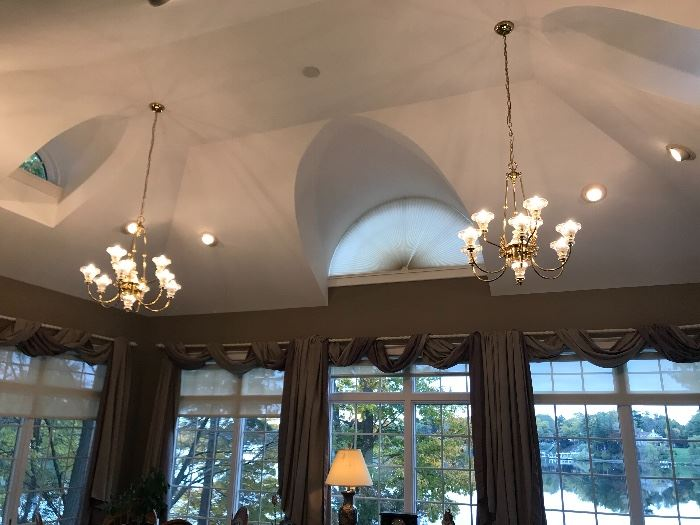 Chandeliers and window treatments are for sale (Buyer responsible for removing responsibly!)