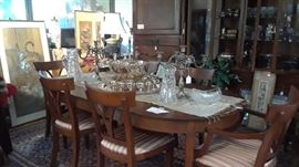 Choose from three dining sets for the holidays that seat 6-8 and two that seat a cozy group of four.