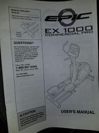 Elliptical, Epic EX1000 Commercial Pro