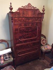 1815 Empire Art Deco Secretary desk.
