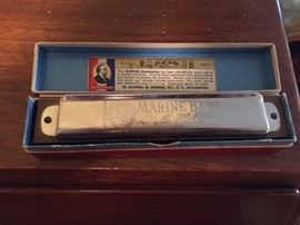 Hohner Marine Band Harmonica With Original Box.