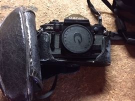 One of Two Canon AE 1 Cameras.