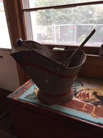 Antique Coal Bucket and Shovel.