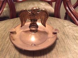 Brass Eagle Ashtray.