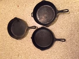Griswold Frying Pans.