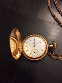 Elgin 14k Ladies Pocket Watch.