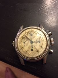Aero-Compax Military Watch.  Very Rare, As Is Condition. Running.