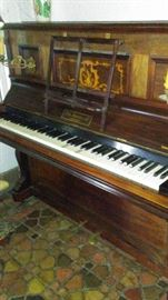 Inlaid Upright Piano