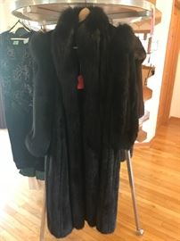 Full length  Black diamond mink coat $1,000