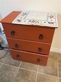 Three drawer antique dresser $50