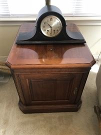 Side table $65 and mantle clock $45