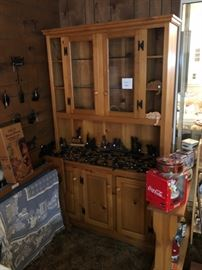 Handmade Hutch, silhouettes & collectibles