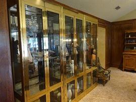 Mastercraft lighted display cabinets (3)