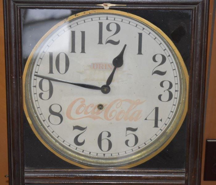 Drink Coca-Cola Clock. Excellent Shape