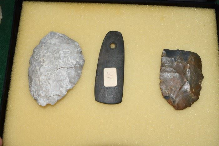 Rare NC Scrapers, & Gorget All Authentic Artifacts.