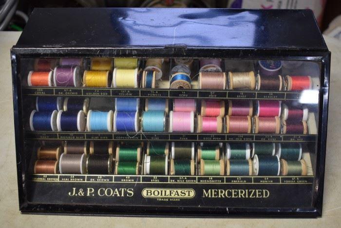 J&P Coats Metal Spool Cabinet