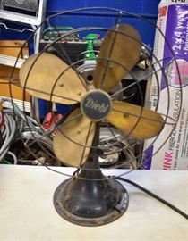 Large Diehl Brass Fan Works!