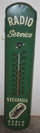 "Rare Sylvania 39"" Radio Tubes Thermometer."