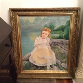 Primitive painting in good frame