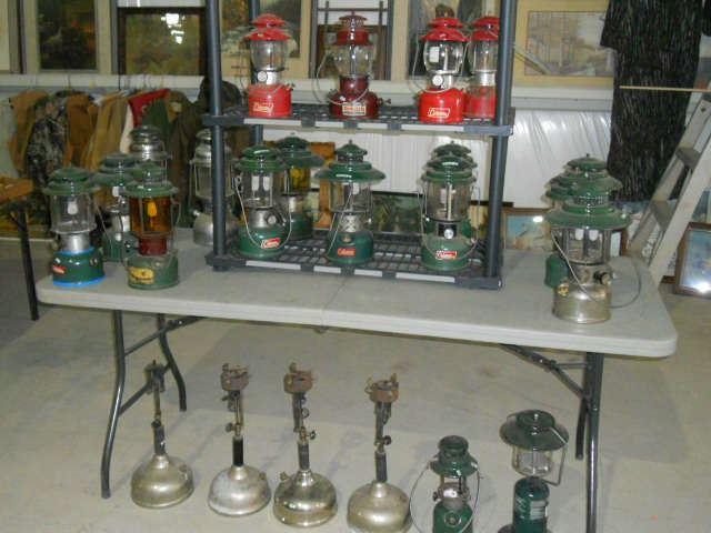 Large Selection of Coleman Lanterns.