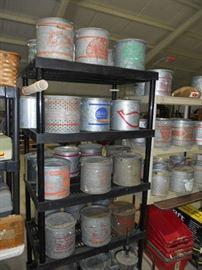 Racks of Vintage Minnow Buckets