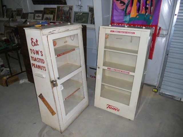 Vintage Tom's Peanut Display Cabinets