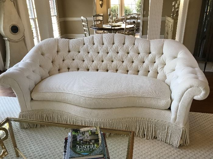 Taylor & King tufted sofa
