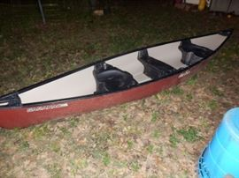 Old Town Saranac 146 Fiberglass Canoe