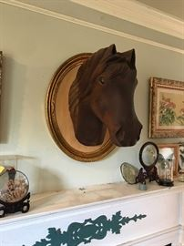 Great carved horse head