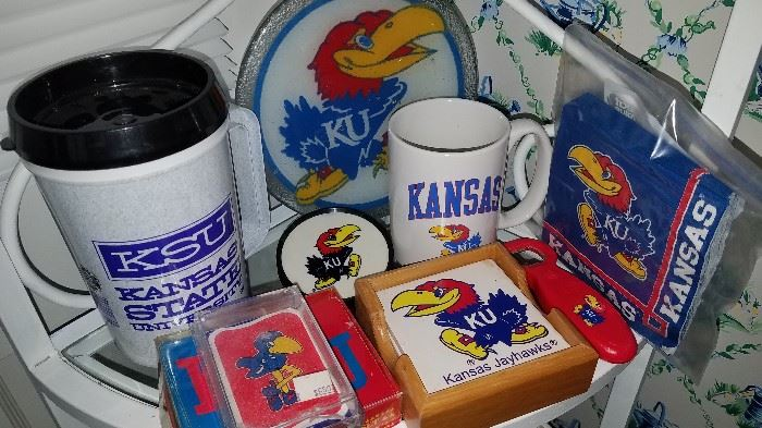 K.U. and K State collectibles