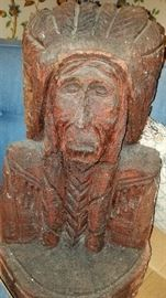"""22"""" carved wood American Native Indian"""