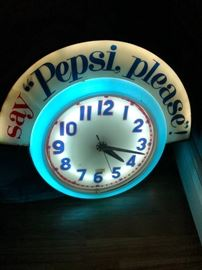 works great - 3 feet by 3 feet Pepsi clock