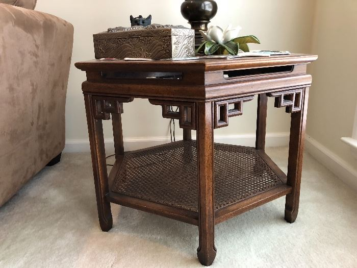 Asian inspired hexagon end table