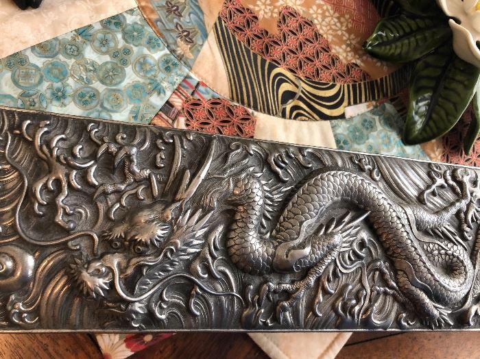 Silver Dragon Lacquer Box