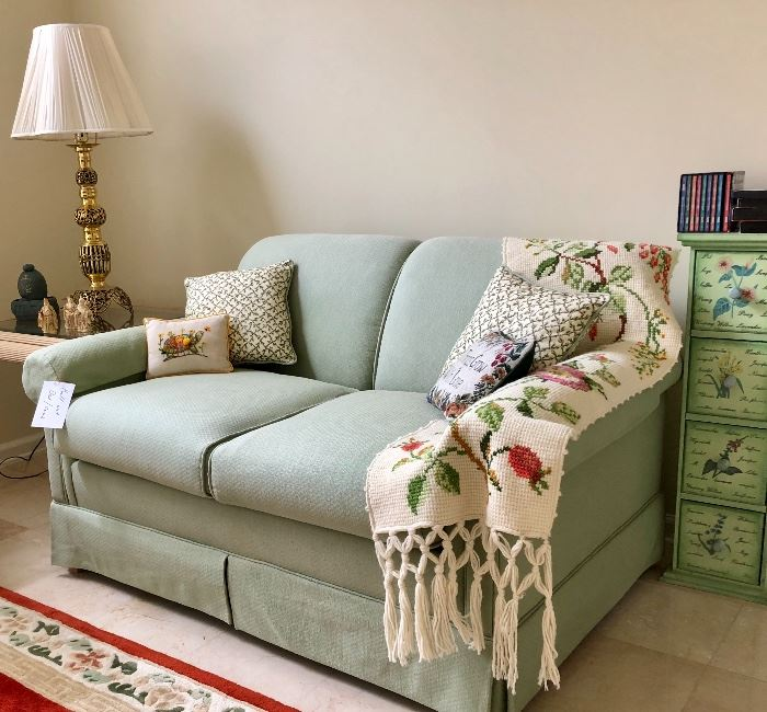Light Green Sleeper sofa
