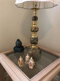 Ornate Table Brass Lamp