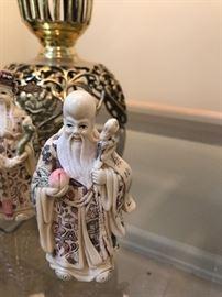 Oriental Elder Wise Figurines