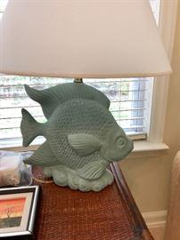 Green Fish Table Lamp