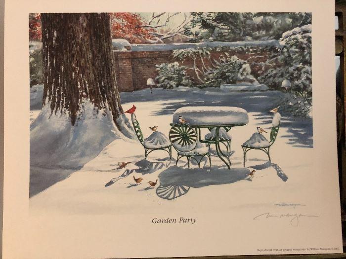 """William Mangum Print """"Garden Party"""""""